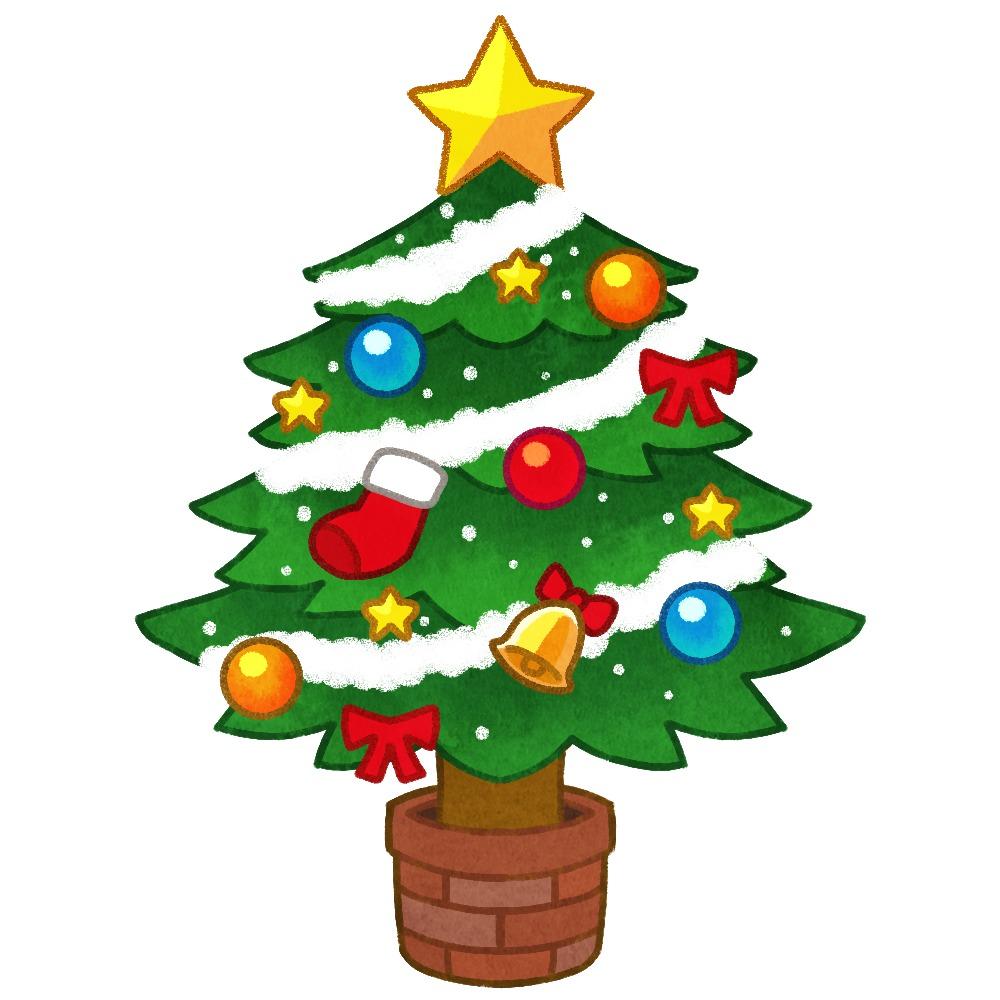 クリスマスツリーのイラスト素材
