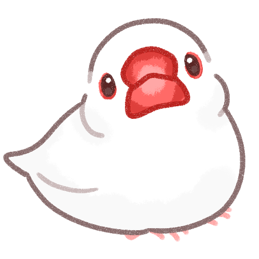 白文鳥のイラスト素材